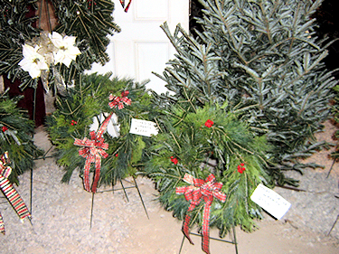 we also have wreaths and boughs in the barn!